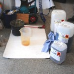 Anmischen von Harz und Härter  10,20 Liter Gesamtmenge
